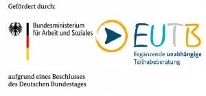 Gefördert durch das Bundesministerium für Arbeit und Soziales aufgrund eines Beschlusses des Deutschen Bundestages. Logo der Ergänzenden Unabhängigen Teilhabeberatung